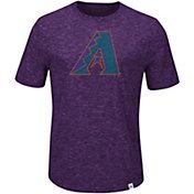 Majestic Men's Arizona Diamondbacks Cooperstown Purple T-Shirt