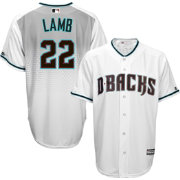 Majestic Men's Replica Arizona Diamondbacks Jake Lamb #22 Cool Base Home White Jersey