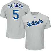 Majestic Men's Los Angeles Dodgers Corey Seager #5 Grey T-Shirt