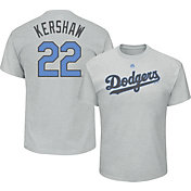 Majestic Men's Los Angeles Dodgers Clayton Kershaw #22 2017 Father's Day Grey T-Shirt