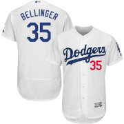Majestic Men's Authentic Los Angeles Dodgers Cody Bellinger #35 Flex Base Home White On-Field Jersey
