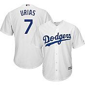Majestic Men's Replica Los Angeles Dodgers Julio Urias #7 Cool Base Home White Jersey