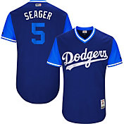 "Majestic Men's Authentic Los Angeles Dodgers Corey Seager ""Seager"" MLB Players Weekend Jersey"