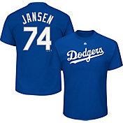 Majestic Men's Los Angeles Dodgers Kenley Jansen #74 Royal T-Shirt
