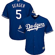 Majestic Men's 2017 World Series Replica Los Angeles Dodgers Corey Seager Cool Base Alternate Royal Jersey