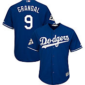Majestic Men's 2017 World Series Replica Los Angeles Dodgers Yasmani Grandal Cool Base Alternate Royal Jersey