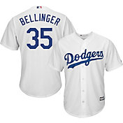 Majestic Men's Replica Los Angeles Dodgers Cody Bellinger #35 Cool Base Home White Jersey