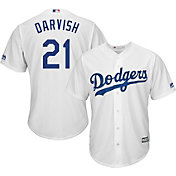 Majestic Men's Replica Los Angeles Dodgers Yu Darvish #21 Cool Base Home White Jersey