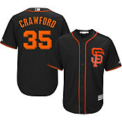 Majestic Men's Replica San Francisco Giants Brandon Crawford #35 Cool Base Alternate Black Jersey