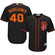 Majestic Men's Replica San Francisco Giants Madison Bumgarner #40 Cool Base Alternate Black Jersey