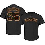 Majestic Men's San Francisco Giants Brandon Crawford #35 Black T-Shirt