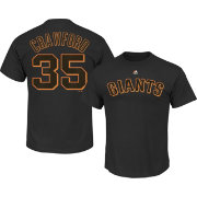 Majestic Men's San Francisco Giants Brandon Crawford #35 Black T-Shirt