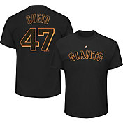 Majestic Men's San Francisco Giants Johnny Cueto #47 Black T-Shirt