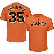 Majestic Men's San Francisco Giants Brandon Crawford #35 Orange T-Shirt