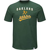 Majestic Men's Oakland Athletics Stoked Green T-Shirt