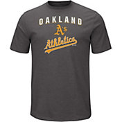 Majestic Men's Oakland Athletics Stoked Grey T-Shirt