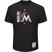 Majestic Men's Miami Marlins Authentic Collection Black T-Shirt