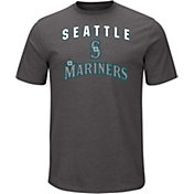 Majestic Men's Seattle Mariners Stoked Grey T-Shirt