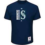 Majestic Men's Seattle Mariners Authentic Collection Navy T-Shirt