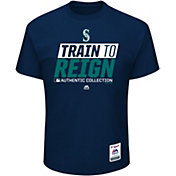 Majestic Men's Seattle Mariners 2017 Spring Training Authentic Collection Navy T-Shirt