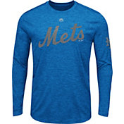 Majestic Men's New York Mets Royal Long Sleeve Shirt