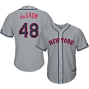 Majestic Men's Replica New York Mets Jacob deGrom #48 2017 4th Of July Cool Base Jersey