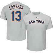 Majestic Men's New York Mets Asdrubal Cabrera #13 Grey T-Shirt