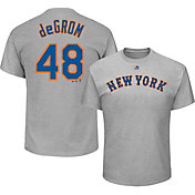 Majestic Men's New York Mets Jacob deGrom #48 Grey T-Shirt