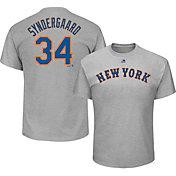 Majestic Men's New York Mets Noah Syndergaard #34 Grey T-Shirt