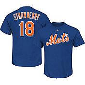 Majestic Men's New York Mets Darryl Strawberry #18 Royal T-Shirt