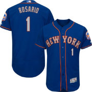 Majestic Men's Authentic New York Mets Amed Rosario #1 Flex Base Alternate Road Royal On-Field Jersey