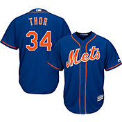 "Majestic Men's Replica New York Mets Noah Syndergaard ""Thor"" #34 Cool Base Alternate Royal Jersey"