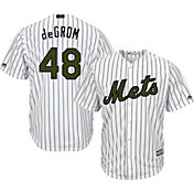 Majestic Men's Replica New York Mets Jacob deGrom #48 2017 Memorial Day Cool Base Jersey