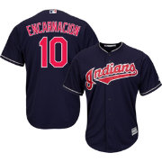 Majestic Men's Replica Cleveland Indians Edwin Encarnacion #10 Cool Base Alternate Navy Jersey
