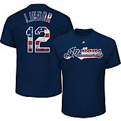 Majestic Men's Cleveland Indians Francisco Lindor #12 Navy Americana T-Shirt