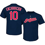 Majestic Men's Cleveland Indians Edwin Encarnacion #10 Navy T-Shirt