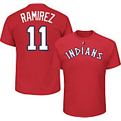 Majestic Men's Cleveland Indians Jose Ramirez #11 Cooperstown Red T-Shirt