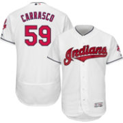 Majestic Men's Authentic Cleveland Indians Carlos Carrasco #59 Flex Base Home White On-Field Jersey