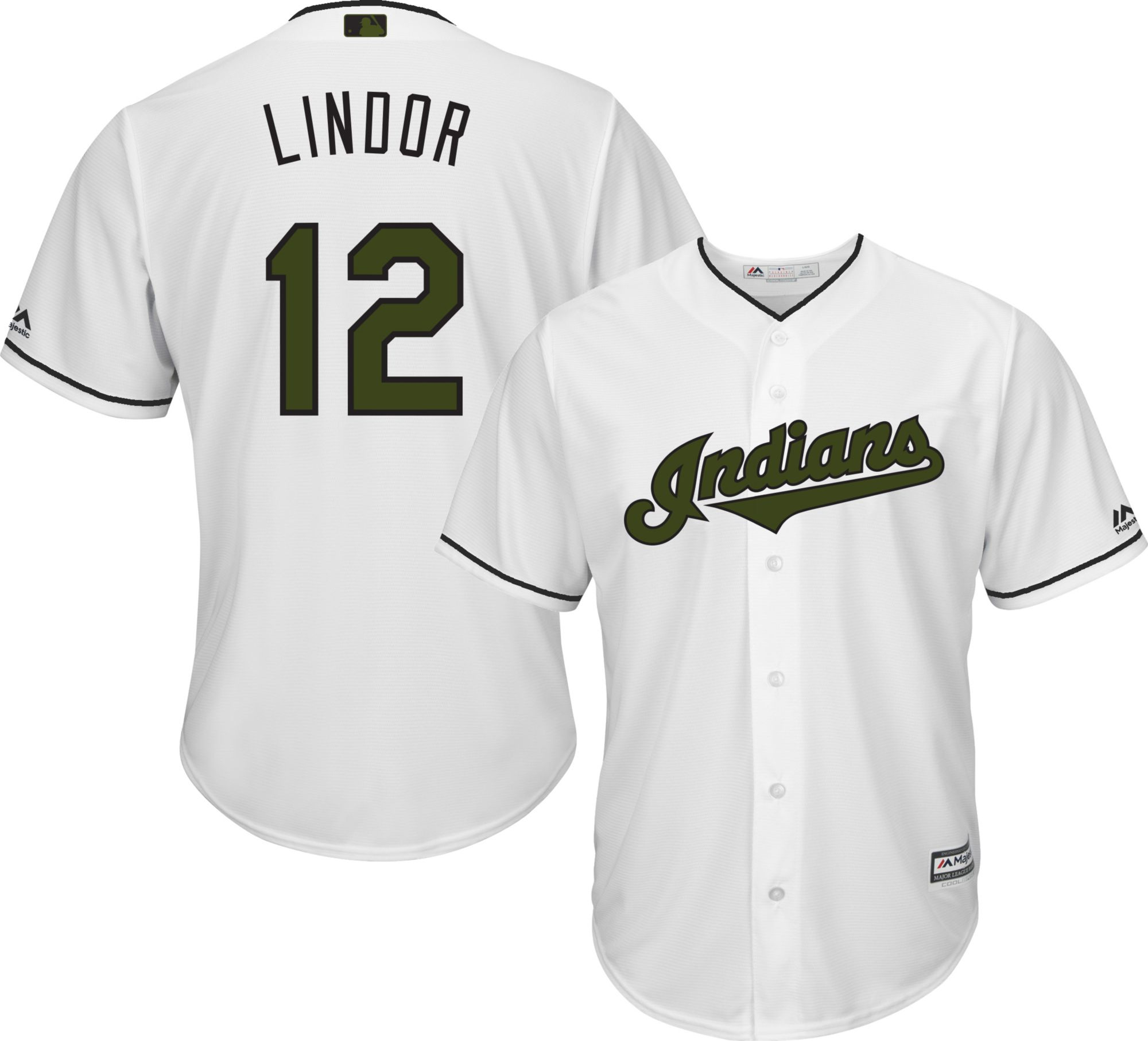 174319c30 ... Majestic Mens Replica Cleveland Indians Francisco Lindor 12 Francisco  Lindor Cleveland Indians Mens Majestic 12 Authentic Alternate Cool Base MLB  Jersey ...