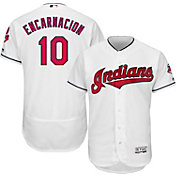Majestic Men's Authentic Cleveland Indians Edwin Encarnacion #10 Flex Base Home White On-Field Jersey