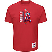 Majestic Men's Los Angeles Angels Authentic Collection Red T-Shirt