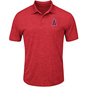 Majestic Men's Los Angeles Angels Cool Base Red Polo