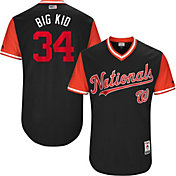 "Majestic Men's Authentic Washington Nationals Bryce Harper ""Big Kid"" MLB Players Weekend Jersey"