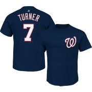 Majestic Men's Washington Nationals Trea Turner #7 Navy T-Shirt