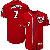 Majestic Men's Authentic Washington Nationals Trea Turner #7 Flex Base Alternate Red On-Field Jersey