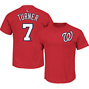 Majestic Men's Washington Nationals Trea Turner #7 Red T-Shirt
