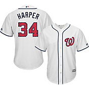 Majestic Men's Replica Washington Nationals Bryce Harper #34 2017 4th Of July Cool Base Jersey