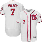 Majestic Men's Authentic Washington Nationals Trea Turner #7 Flex Base Home White On-Field Jersey