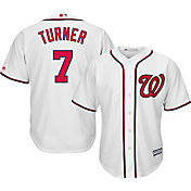Majestic Men's Replica Washington Nationals Trea Turner #7 Cool Base Home White Jersey