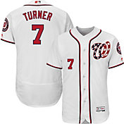 Majestic Men's Authentic Washington Nationals Trea Turner #7 Flex Base Alternate Home White On-Field Jersey